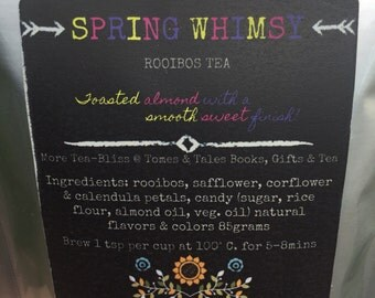 Spring Whimsy- Gypsy-Tea-All Natural-Rooibos-Tea-Loose Leaf-Almond-Healthy-Caffiene Free-Kids-Hot Tea-Iced Tea