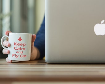 Aviation Mug, Keep Calm and Fly On, Airplane Mug, Pilots Mug, Gifts for Pilots