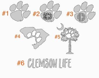 Clemson Tigers Decals