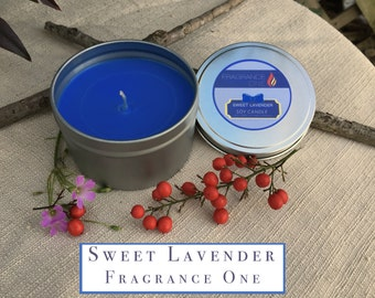 Sweet Lavender Soy Candle - Tin