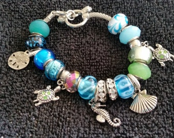 Under the Sea Ocean inspired charm bracelet