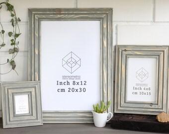 Wooden Photo Picture Frame / Minimalistic Brushed Finish / Anti-Glare Glass / Size: Instax 6.1x4.5 / 6x6 / 10x10 / 15x15 / 20x20 / 20x30 cm