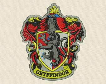 Gryffindor Emblem Embroidery Design 4 sizes