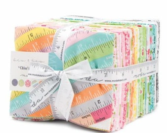 Sew and Sew - Moda Precut by Chloe's Closet - Fat Quarter Bundle (36 pcs) seamstress tapes tiny flowers vintage pattern