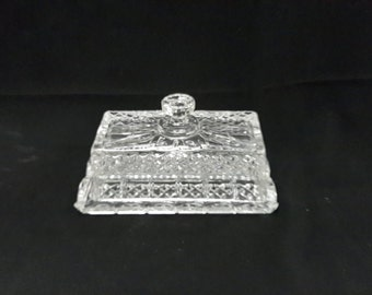 Vintage Kristal Zajecar 24% Lead Crystal Butter Dish Made in Yugoslavia Heavy Lead Crystal Elegant Crystal Fine Dining Home Decor