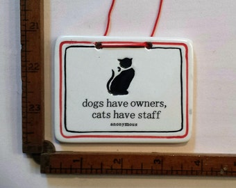 Adorable Kitty Staff Plaque