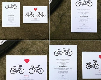 A bicycle made for two - Wedding Save the Date and invite bike theme