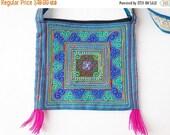 SALE Embroidered Purse / Embroidered Bag / Boho Bag / Boho Purse / Embroidered Art / Vintage Boho / cross shoulder purse