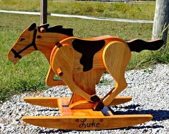 Personalized Rocking Horse / Handmade Rocking Horse / Children's Rocking Horse / Horse Gift / Wooden Rocking Horse