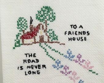 Vintage Embroidered Hand Towel