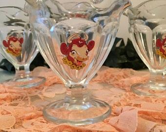 Vintage Borden's Dessert  Cups
