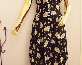 Betty barclay dress, 70s betty barclay, vintage betty barclay, 70s dress, 70s long dress, elephant print, elephant dress, elephant pattern