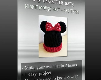 Kids character hats -  Mouse pattern