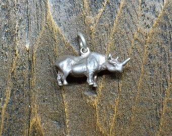 Rhino Silver 925 Charm
