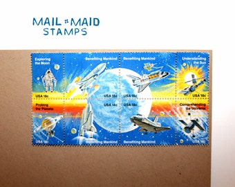 Space Achievements Commemorative Stamps    Set of 8 unused postage stamps