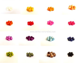 Tagua - 7mm - Multicolored assortment of tagua beads - 50/100/500/1000 - Vegetable Ivory - Natural Ivory