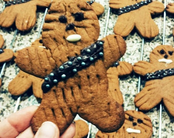 Star Wars Chewbacca Wookiee Gingerbread Cookies