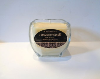 22 oz scented beeswax candle in glass jar