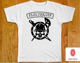 Electrician Skull Shirt