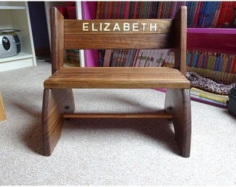 Child's Bench/Step stool (personalised)