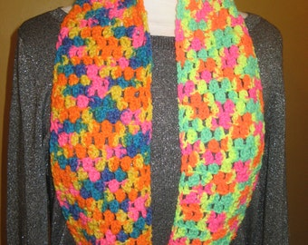 Child's Cluster Stitch Crochet Scarf