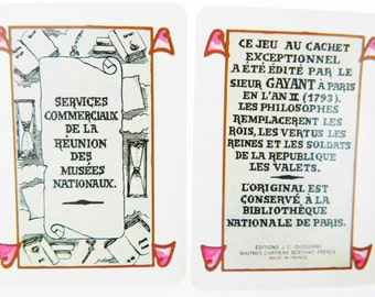 Vintage French Playing Cards Philosophers Editions J.C. Dusserre Made in France