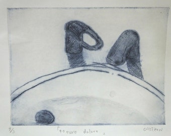 Original etching print ''40euro dolore''