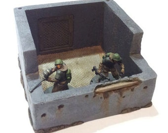 Small Bunker - 28mm resin, WH40K, Bolt Action, Dust Tactics, AT-43