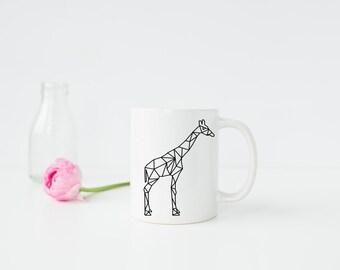 Chic Geometric Giraffe 11oz Mug