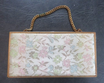 RARE Vintage Gold Plate Barbara Bates Manicure Kit/Purse 1950s era
