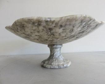 Alabaster Large Footed Dish