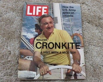 45 Years Old! LIFE Magazine featuring Walter Cronkite