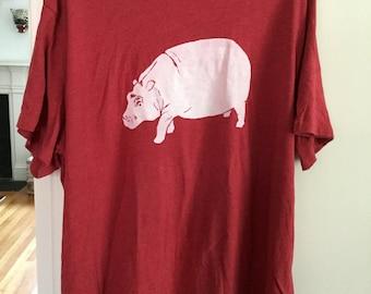 "Short Sleeve Hippo - Red ""Men's"" 2X"