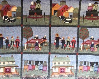 12 Square panel of Almost Amish by fabric expressions for RJR VINTAGE