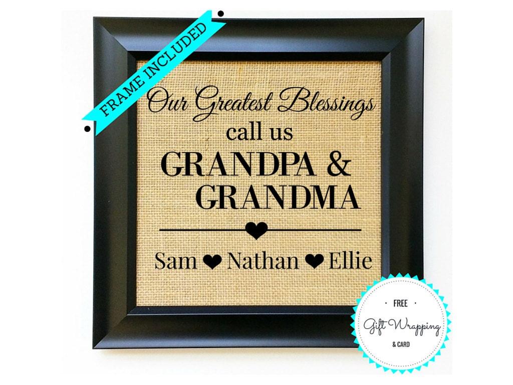Grandma Amp Grandpa Gift For Grandparents Day Gifts Grandfather