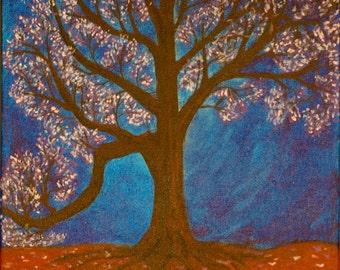 """Original Acrylic painting, """"tree"""""""