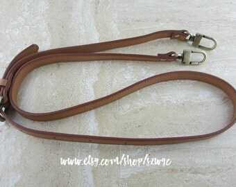 "48"" Brown Leather Strap for Purse Bag"
