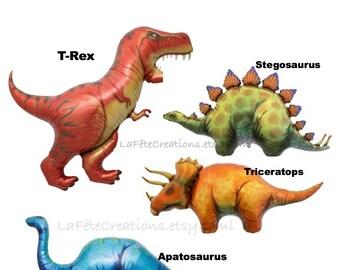 Dinosaur Balloons Large Mylar T-Rex Triceratops Apatosaurus Stegosaurus Dinosaurs Helium Quality Happy Birthday Balloons