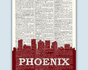 Phoenix Skyline, Phoenix Poster, Phoenix Decor, Phoenix Print, Phoenix Wall Art, Phoenix Gift, Phoenix Wall Decor, Phoenix Arizona
