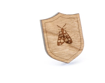 Moth Lapel Pin, Wooden Pin, Wooden Lapel, Gift For Him or Her, Wedding Gifts, Groomsman Gifts, and Personalized