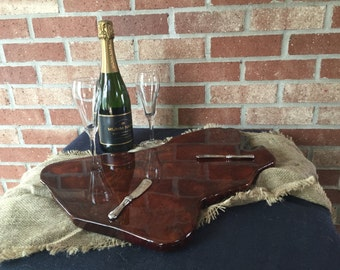 Rustic Redwood Platter