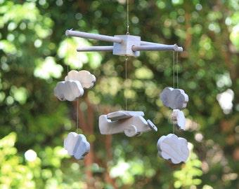 Paul - Handmade Wooden Aeroplane Nursery Mobile