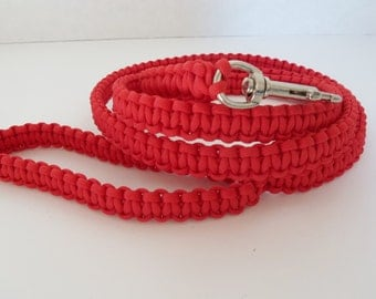 6 foot Red Paracord Dog Leash