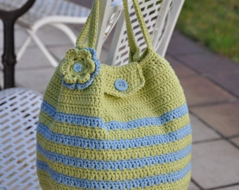 Crochet Handbag with flower