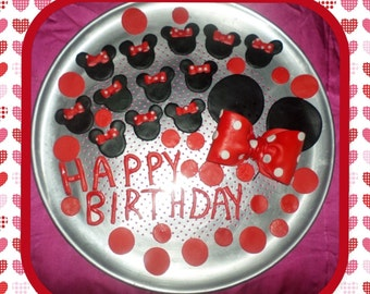 Minnie  Edible Cake/Cup Cake Topper Complete Set