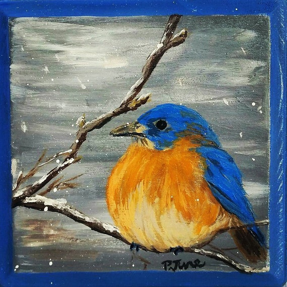 Singing bird - Acrylic painting / Homemade Illustration(4k ...  |Bird Painting Acrylic