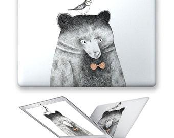 macbook air hard case rubberized front hard cover for apple mac macbook air pro 11 12 13 15 bird bear