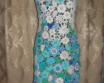 """Crochet irish lace dress, irish crochet, crochet lace, irish lace dress, crochet dress, irish crochet dress, lace dress """"Ice flowers"""""""