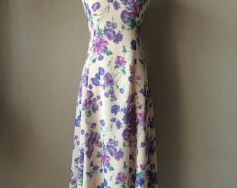 Amazing 1960s dress, 1960s vintage dress, lilac and purple dress, evening dress, chiffon dress, summer dress, dinner dree