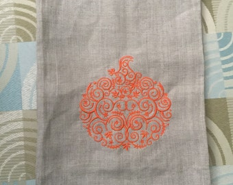 Embroidery linen kitchen towel